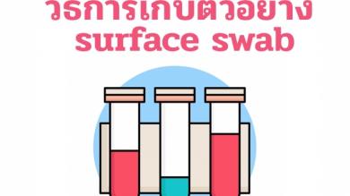 วิธีการเก็บตัวอย่าง surface swab