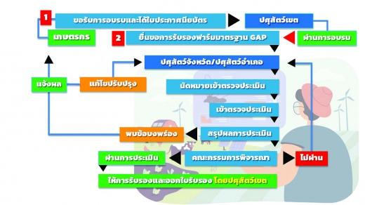 ขั้นตอนการขอรับรองมาตรฐานฟาร์ม (GAP)