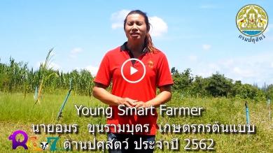 Young Smart Farmer  นายอมร  ขุนรามบุตร  เกษตรกรต้นแบบด้านปศุสัตว์ ประจำปี 2562